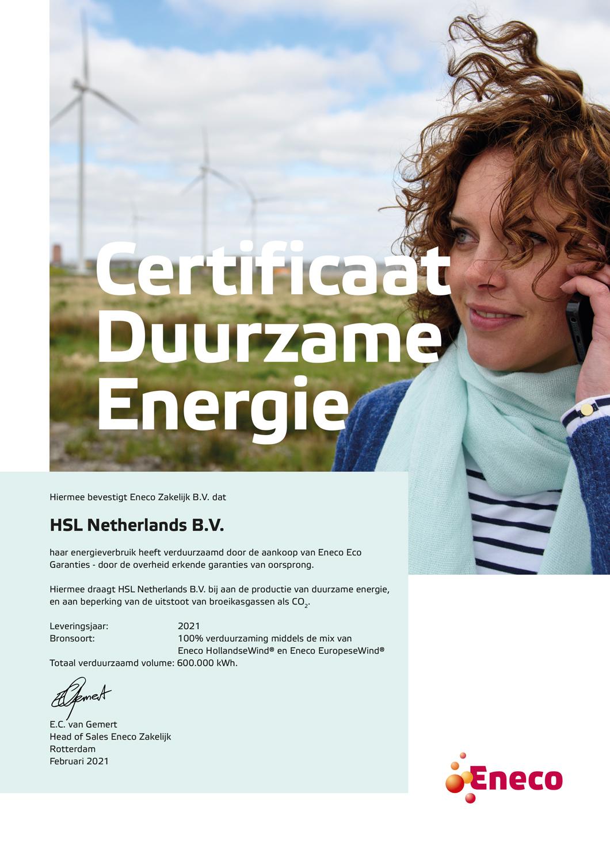 Certificaat-2021---Contractueel-volume-HSL-Netherlands-B.V